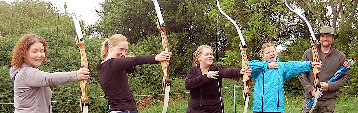 Hens learn archery